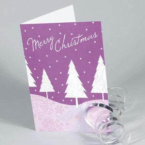 Matt Laminated Christmas Cards - Christmas Card Printing