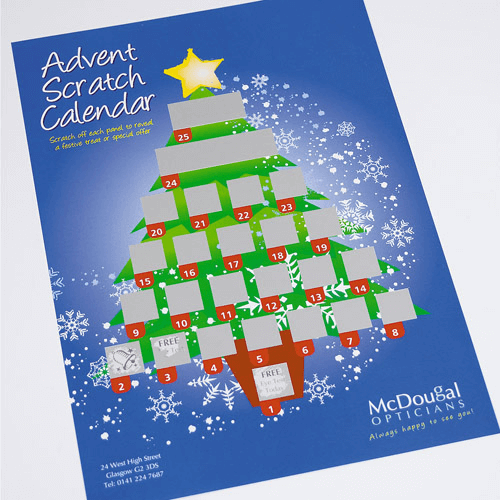 Scratch Calendars - Christmas Scratch Card Printing