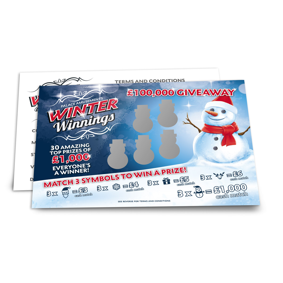 tmas Scratch Cards - Christmas Scratch Card Printing