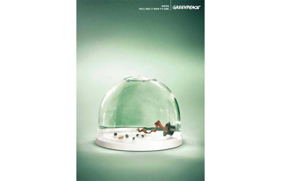 Christmas print advertising Greenpeace