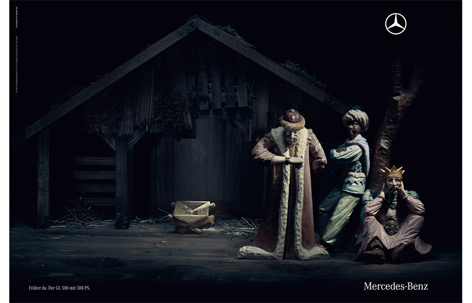 Christmas print advertising Mercedes-Benz